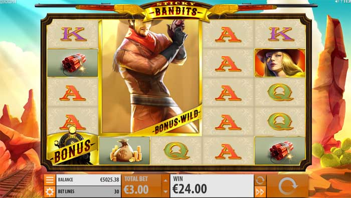 sticky bandits free spins bonus