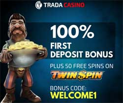 trada casino welcome bonus