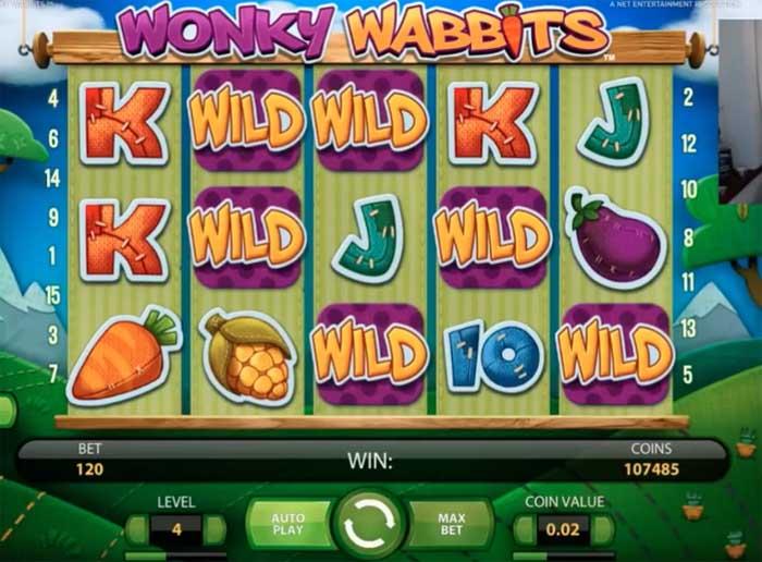 wonky wabbits big win