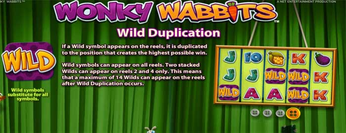 wonky wabbits wild duplication feature