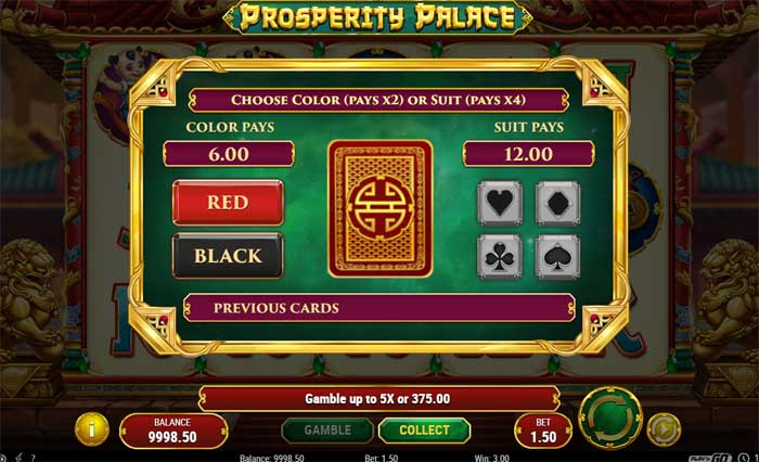card gamble feature on slots