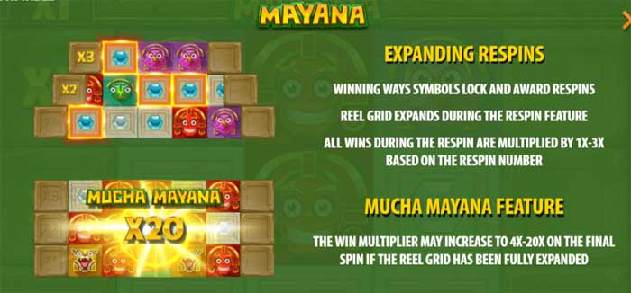 mayana slot bonus features