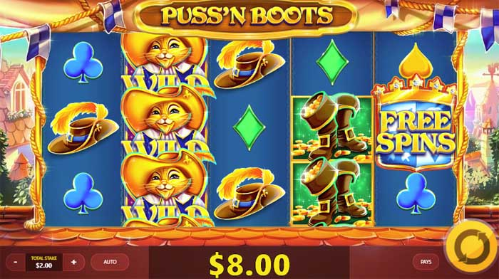 puss n boots slot review