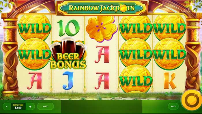 rainbow jackpots slot review