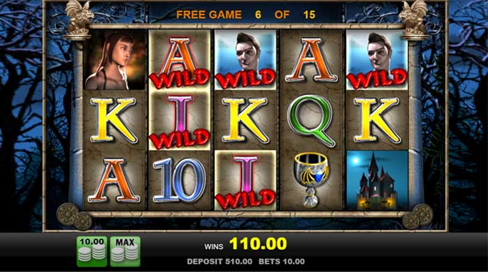 vampires free spins feature