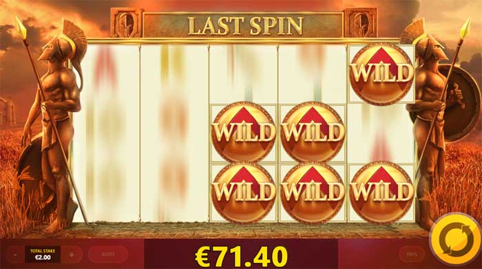 wild spartans sticky wilds slot