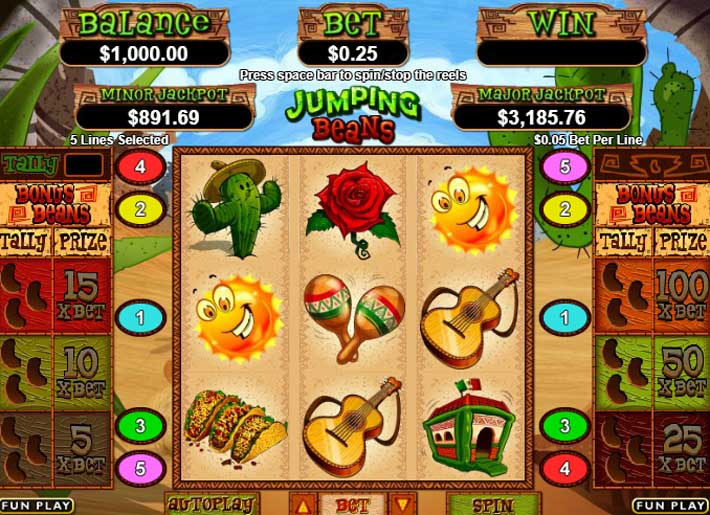 jumping beans slot review