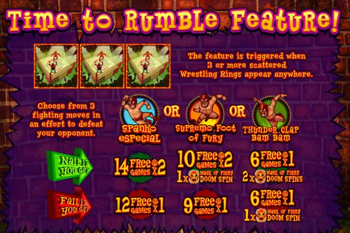 lucha libre time to rumble bonus feature