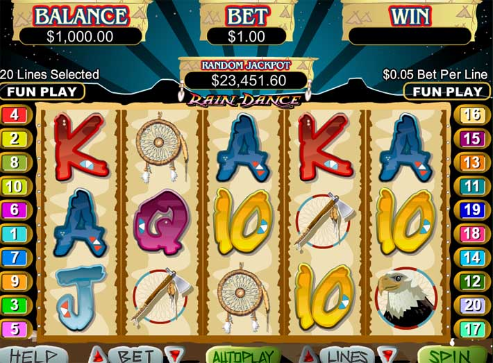 rain dance slot review