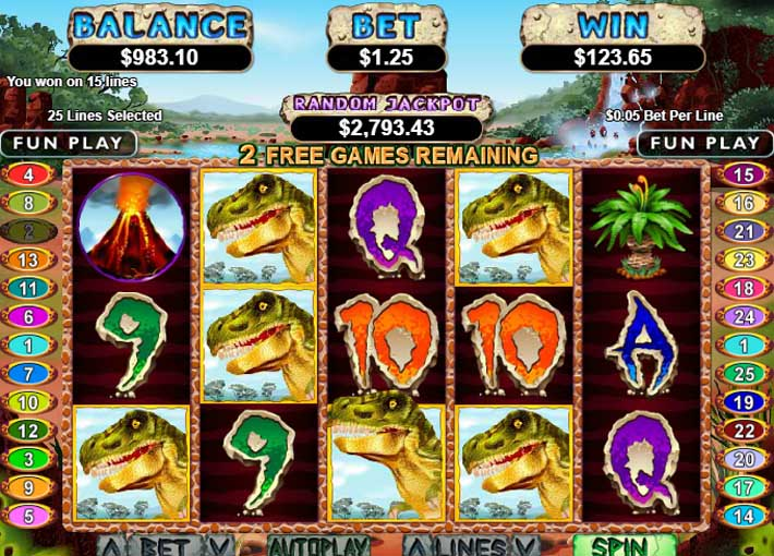 t-rex slot big win