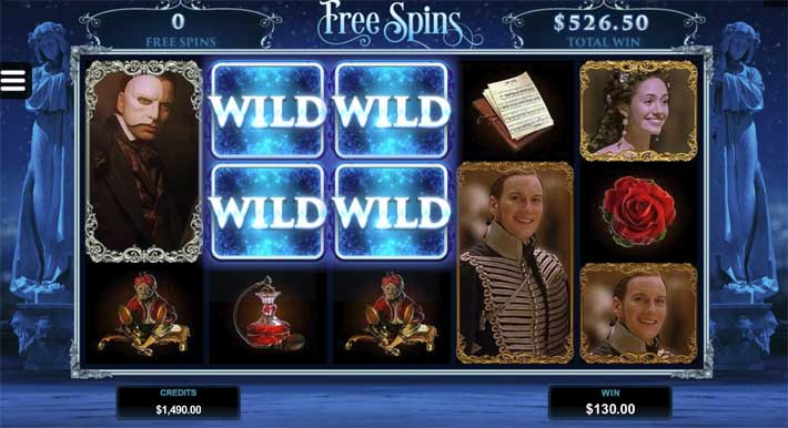 the phantom of the opera slot free spins