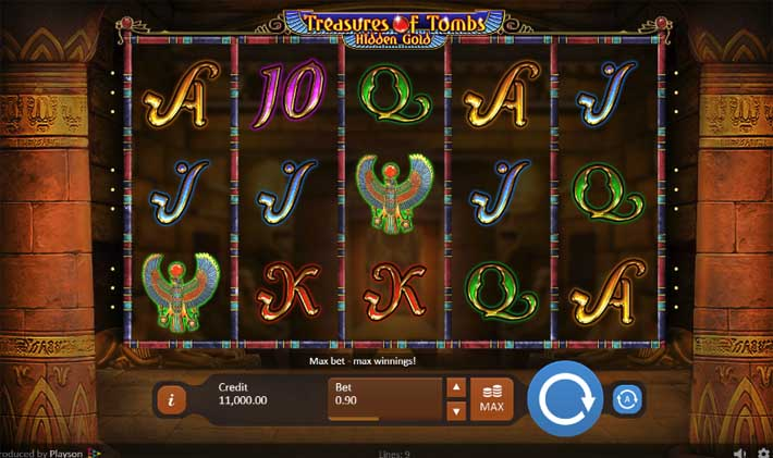 treasure of tombs hidden gold slot review